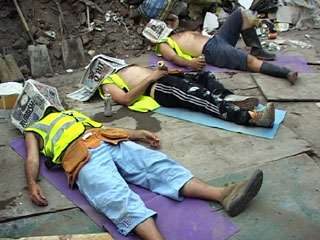 builders asleep
